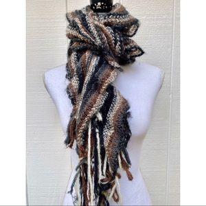 Accessories - Multi Color Ruffled Winter Scarf